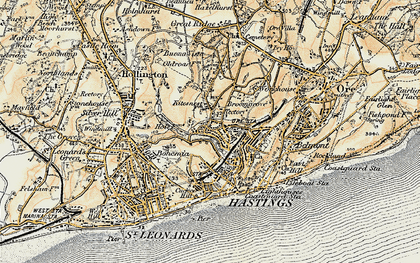 Map Of Hastings Hastings photos, maps, books, memories   Francis Frith