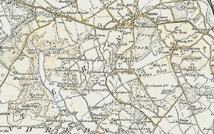 Old map of Hastoe in 1898