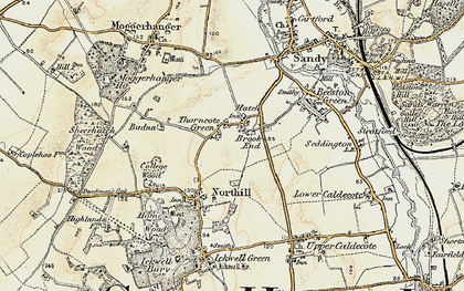 Old map of Hatch in 1898-1901