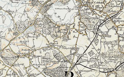 Old map of Hatchford in 1897-1909