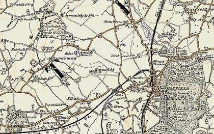 Old map of Hatfield Garden Village in 1898