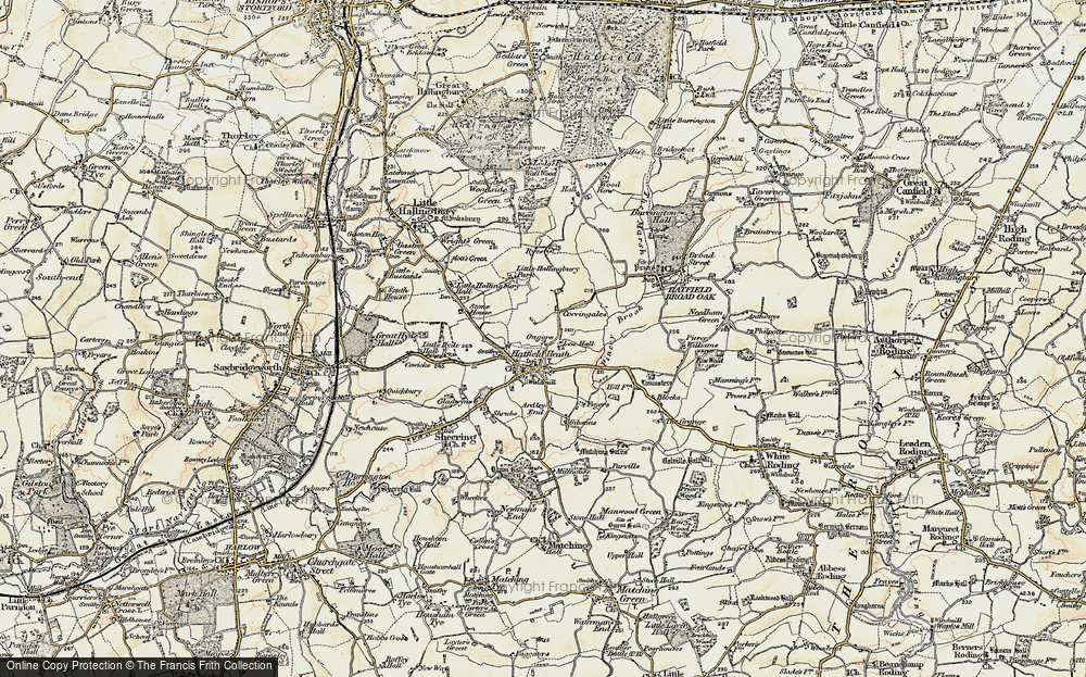 Old Map of Historic Map covering Lea Hall in 1898-1899