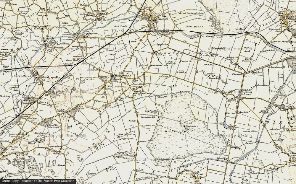 Old Map of Historic Map covering Lindholme Hall in 1903