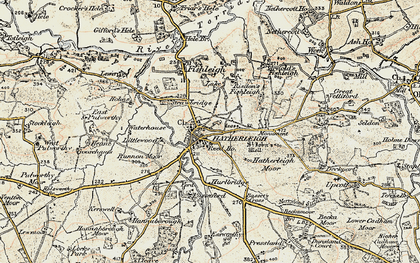 Old map of Hatherleigh in 1899-1900