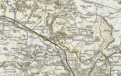 Old map of Hathersage in 1902-1903