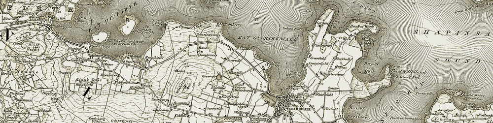 Old map of Wide Firth in 1911-1912