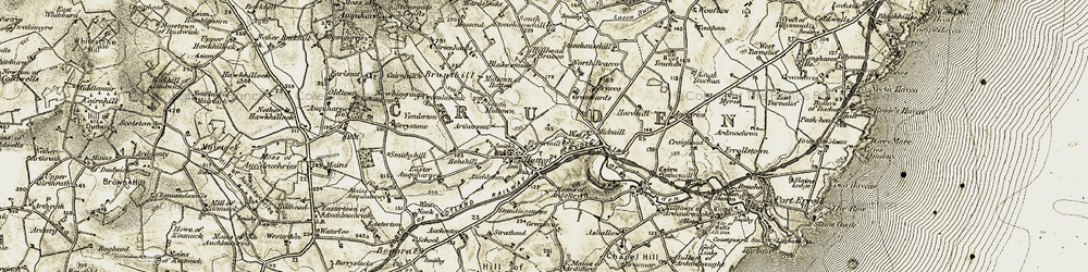 Old map of West Teuchan in 1909-1910