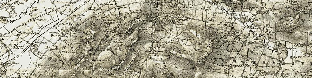 Old map of Wester Rochelhill in 1907-1908