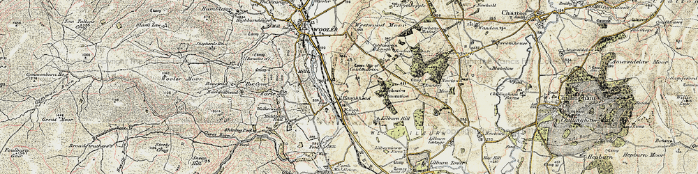 Old map of Lilburn Hill in 1901-1903