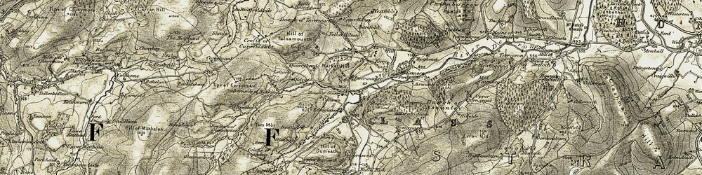 Old map of Westfolds in 1908-1910