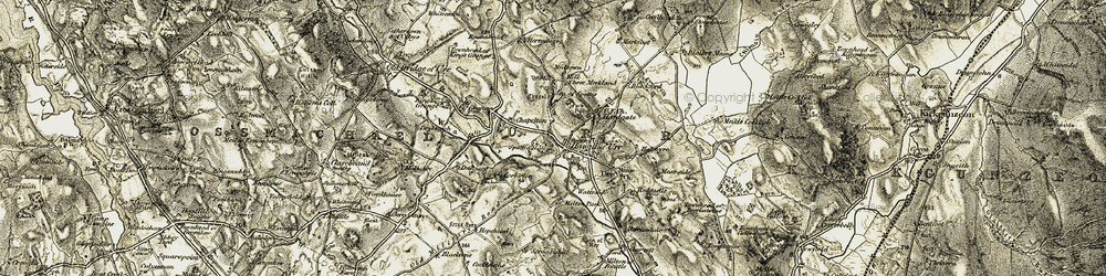 Old map of Haugh of Urr in 1904-1905