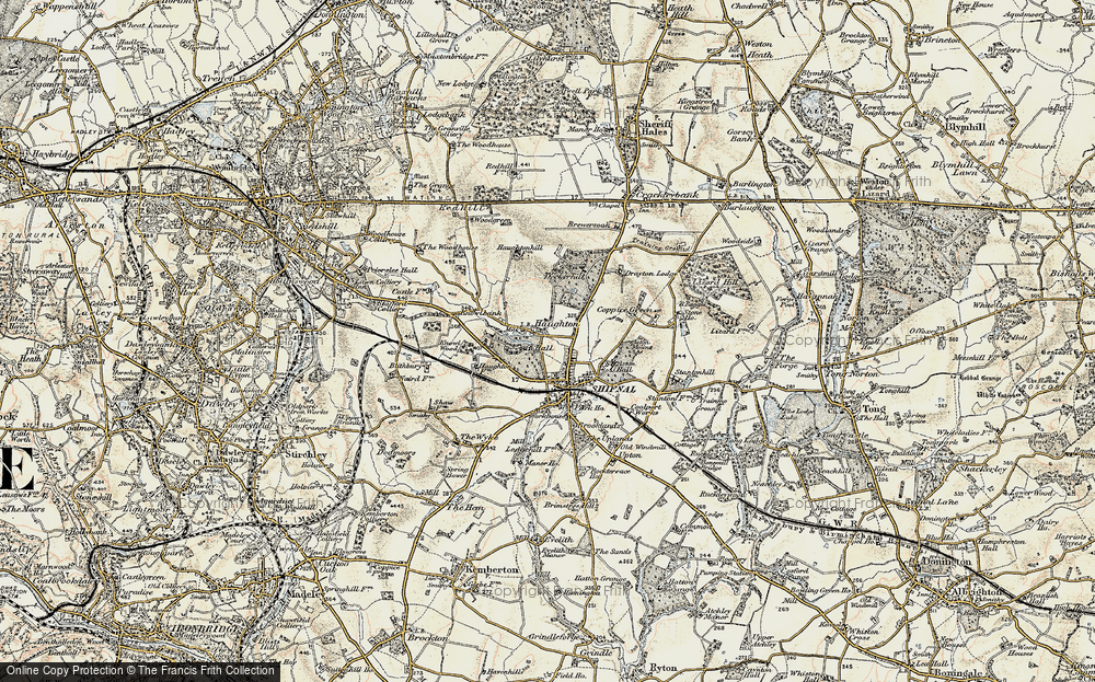 Old Map of Historic Map covering Aston Coppice in 1902
