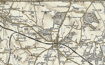 Old map of Aston Coppice in 1902