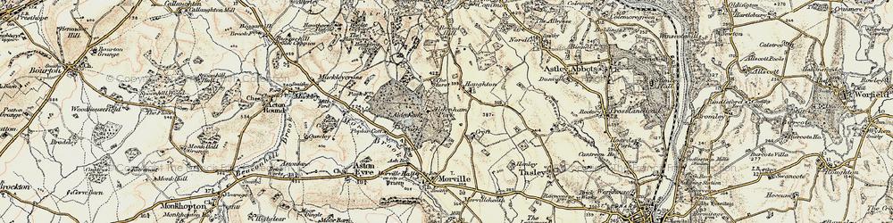 Old map of Aldenham Park in 1902