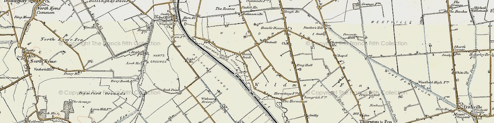 Old map of Witham Brewery in 1902-1903