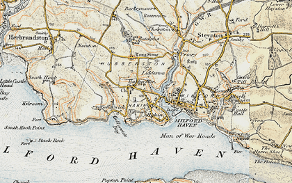 Old map of Havens Head in 1901-1912