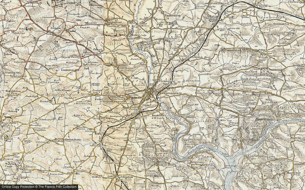 Old Map of Haverfordwest, 1901-1912 in 1901-1912