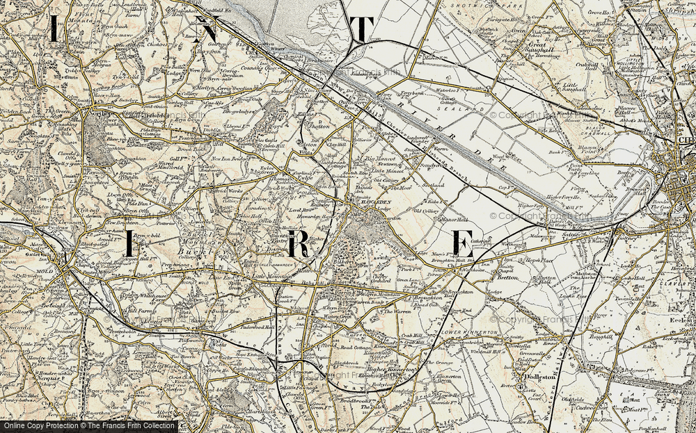 Old Map of Historic Map covering Aviary, The in 1902-1903