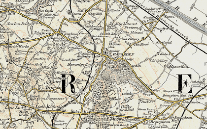 Old map of Hawarden in 1902-1903
