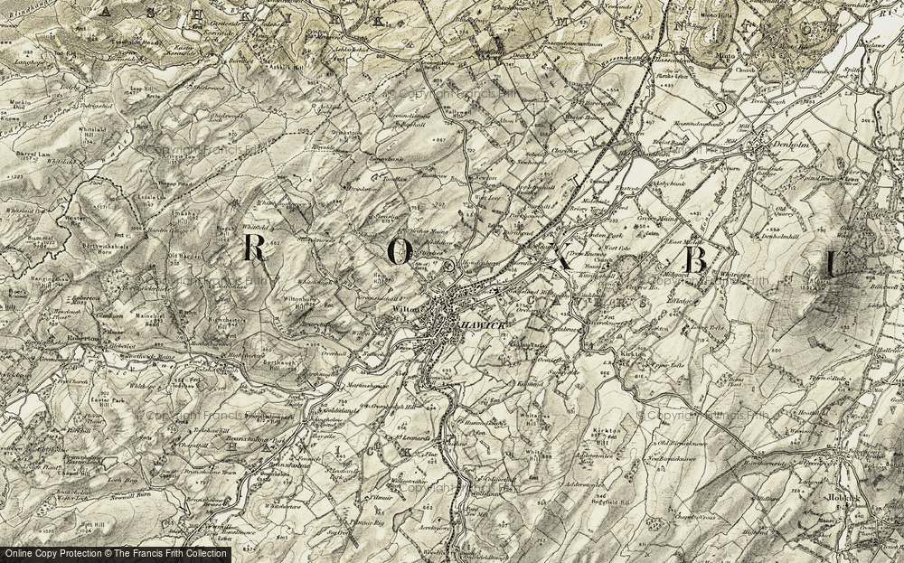 Old Map of Hawick, 1901-1904 in 1901-1904