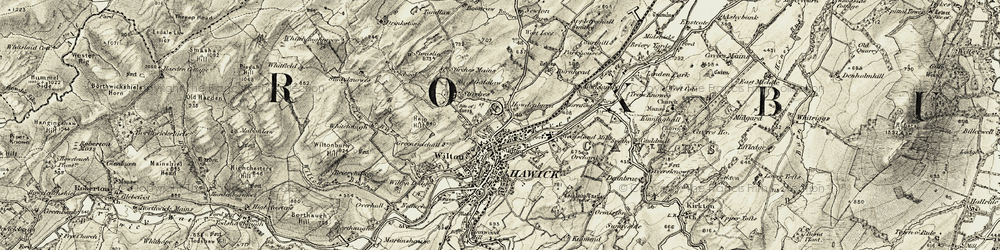 Old map of Hawick in 1901-1904
