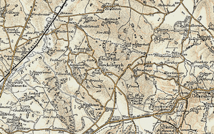 Old map of Wyld Court in 1898-1899