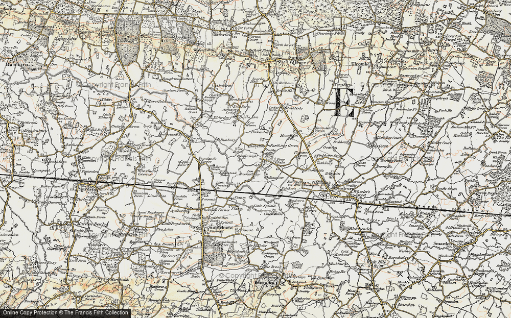 Old Map of Historic Map covering Bardingley in 1897-1898