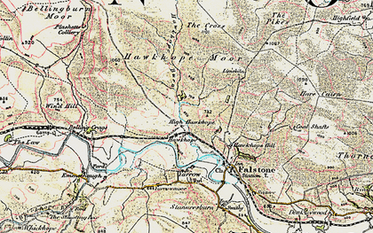 Old map of Wind Hill in 1901-1904
