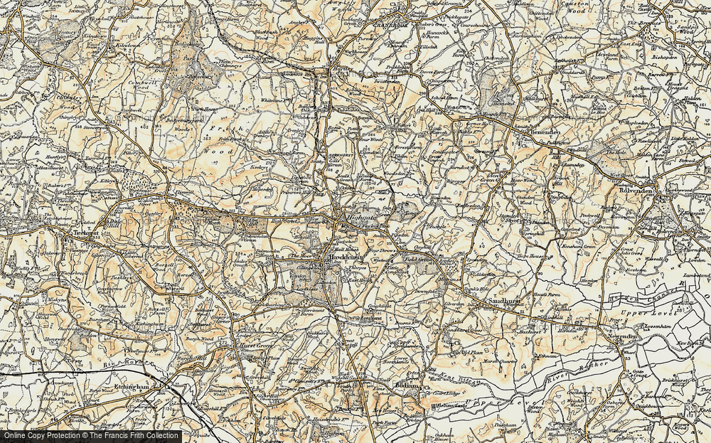 Old Map of Hawkhurst, 1898 in 1898