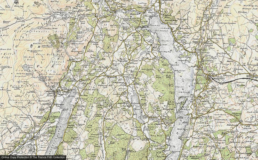 Old Map of Hawkshead, 1903-1904 in 1903-1904