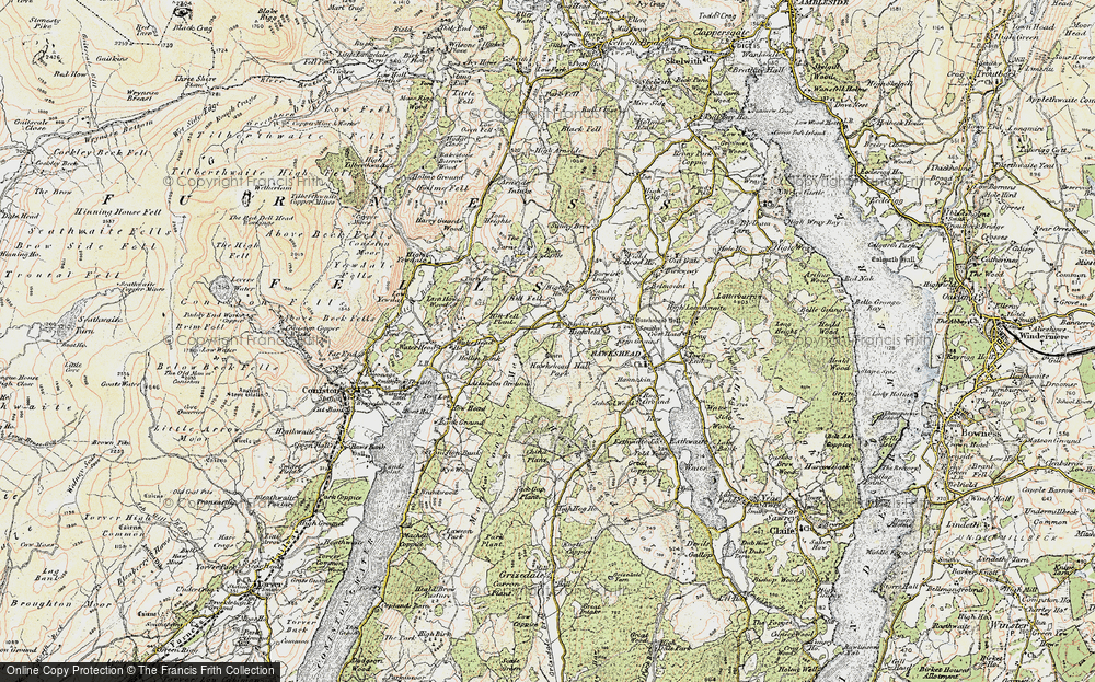 Old Map of Historic Map covering Atkinson Ground in 1903-1904