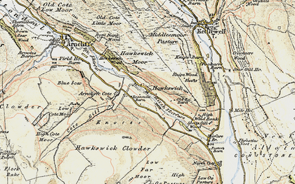 Old map of Wharfedale in 1903-1904