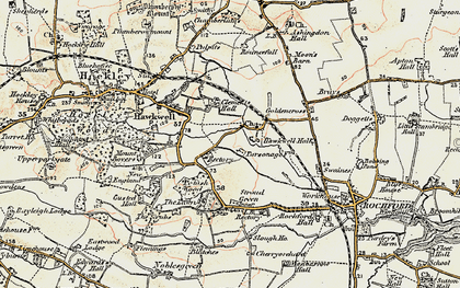 Old map of Hawkwell in 1898