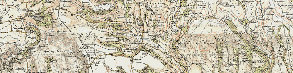 Old map of Woolhouse Croft in 1903-1904