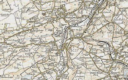 Old map of Haworth in 1903-1904