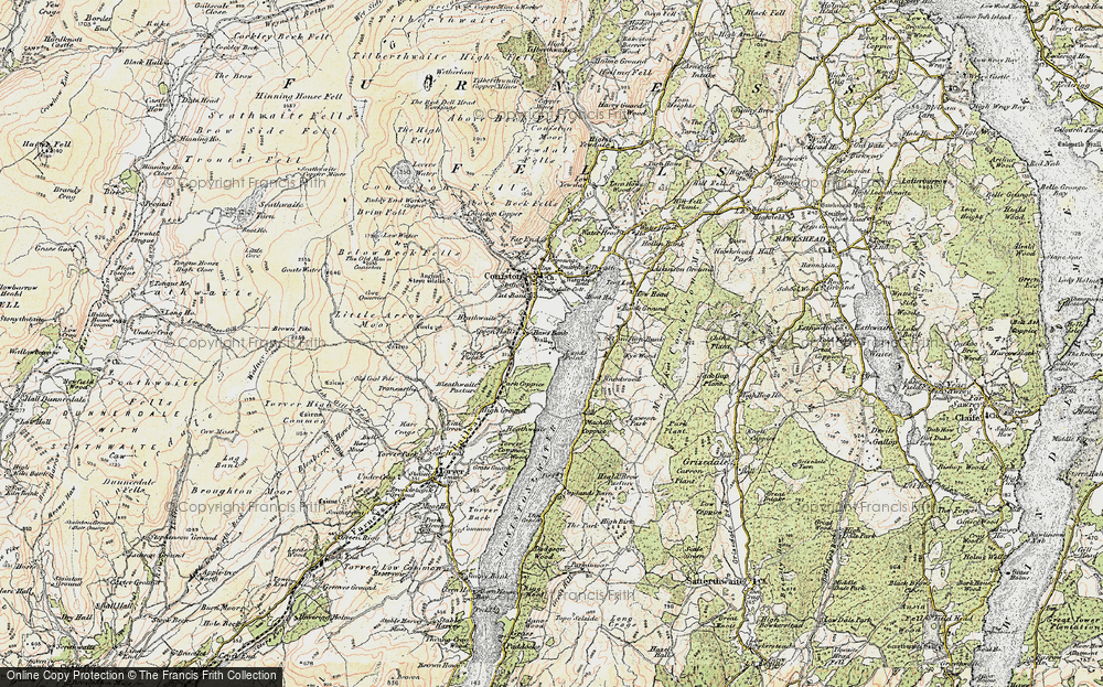 Old Map of Historic Map covering Bank Ground in 1903-1904
