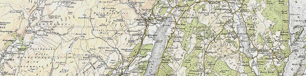 Old map of Thurston in 1903-1904