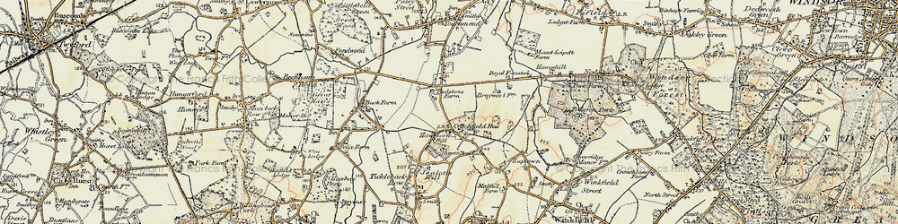 Old map of Hawthorn Hill in 1897-1909