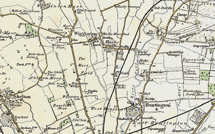 Old map of Wigginton Lodge in 1903-1904