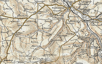 Old map of Hay in 1900