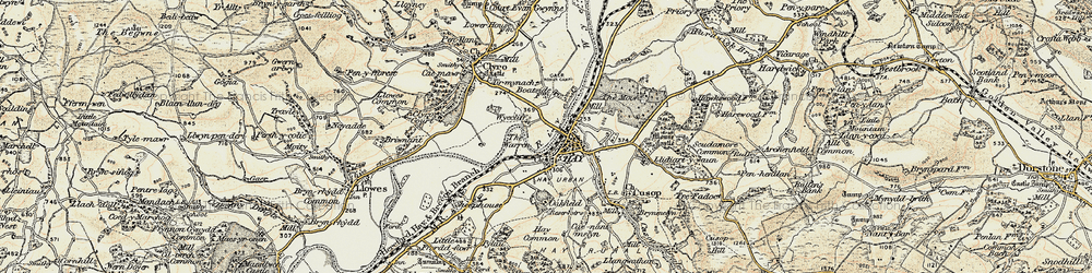 Old map of Wyecliff in 1900-1902
