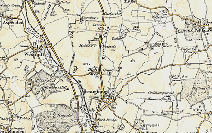 Old map of Hay Street in 1898-1899