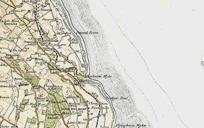 Old map of Hayburn Wyke in 1903-1904