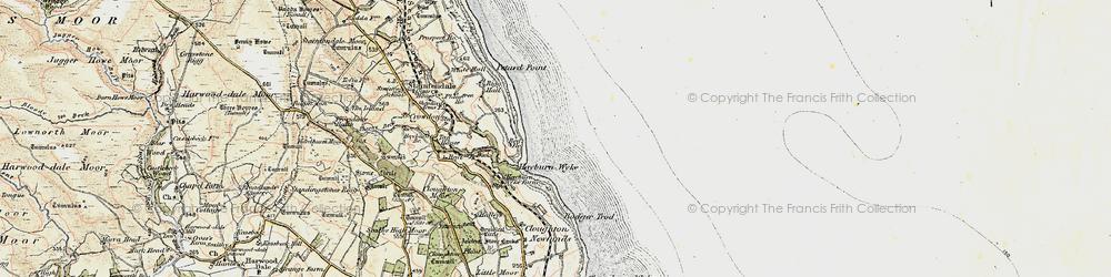 Old map of Hayburn Wyke in 1903-1904