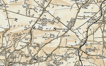Old map of Whitnell Corner in 1899