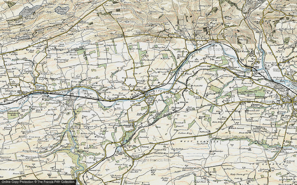 Old Map of Historic Map covering Alton Side in 1901-1904