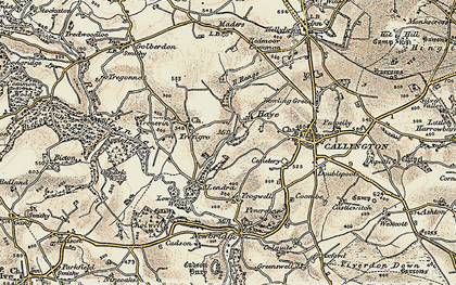 Old map of Haye Fm in 1899-1900