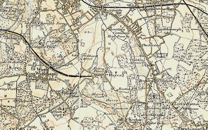 Old map of Hayes in 1897-1902