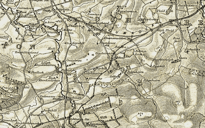Old map of Whitehill in 1904-1906