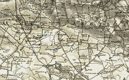 Old map of West Skichen in 1907-1908